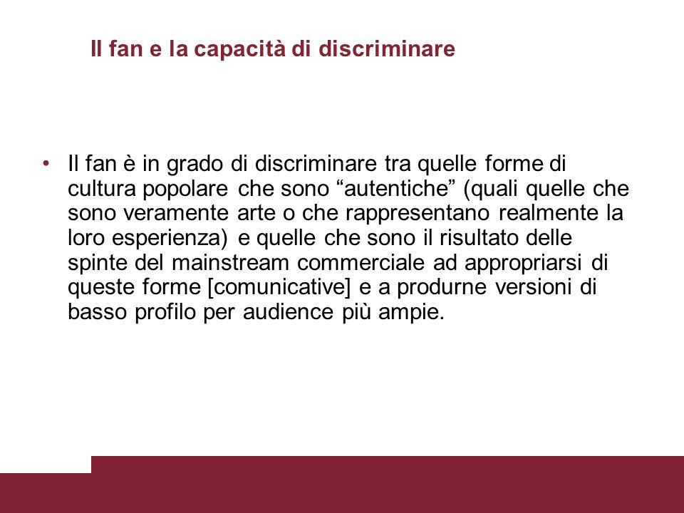 Il fan e la capacità di discriminare