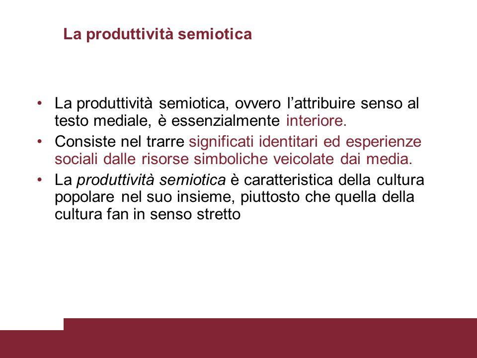 La produttività semiotica