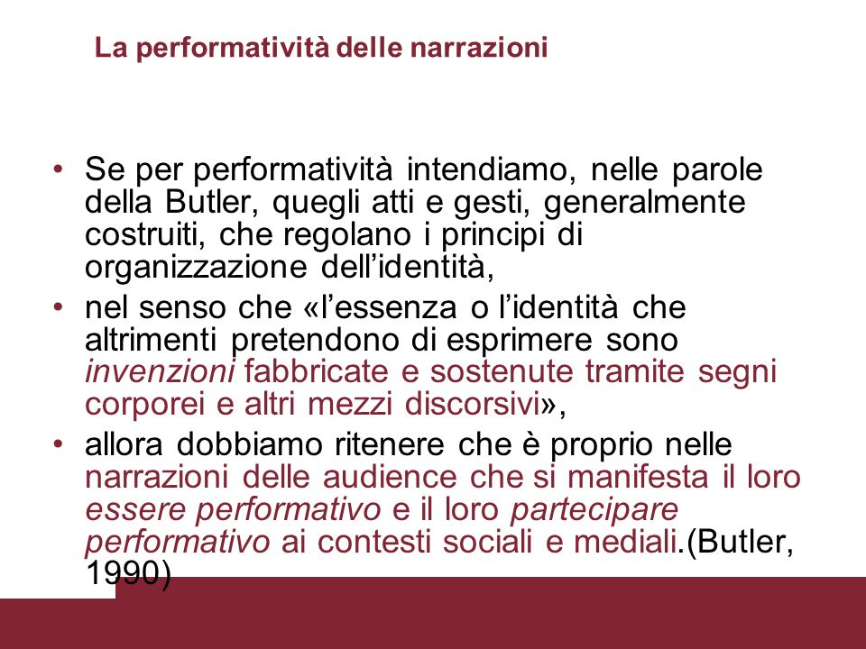 La performatività delle narrazioni
