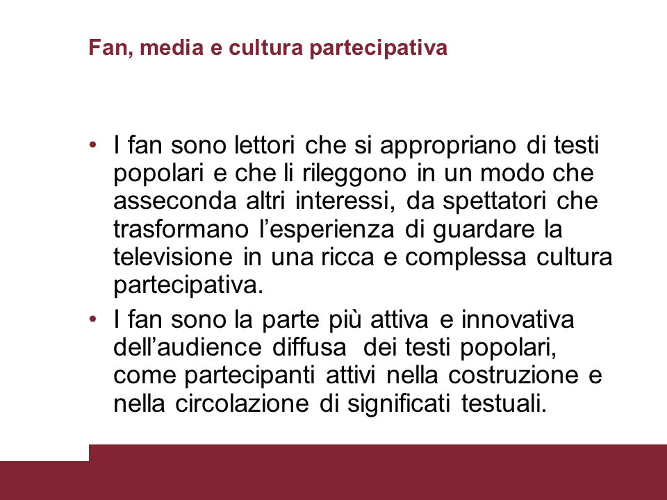 Fan, media e cultura partecipativa
