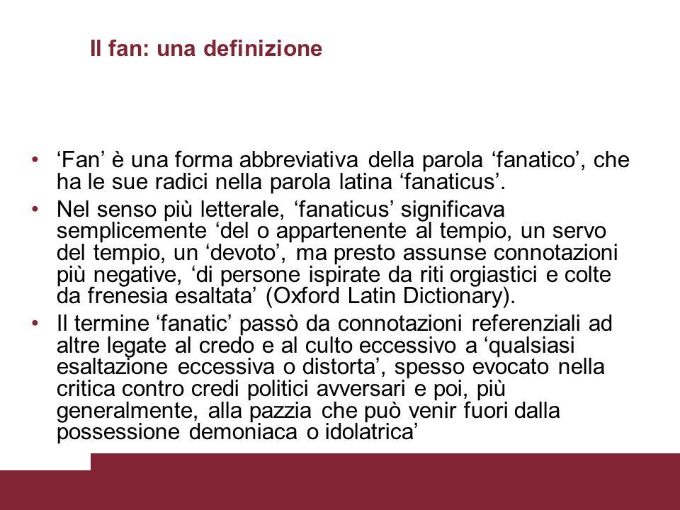 Il fan: una definizione