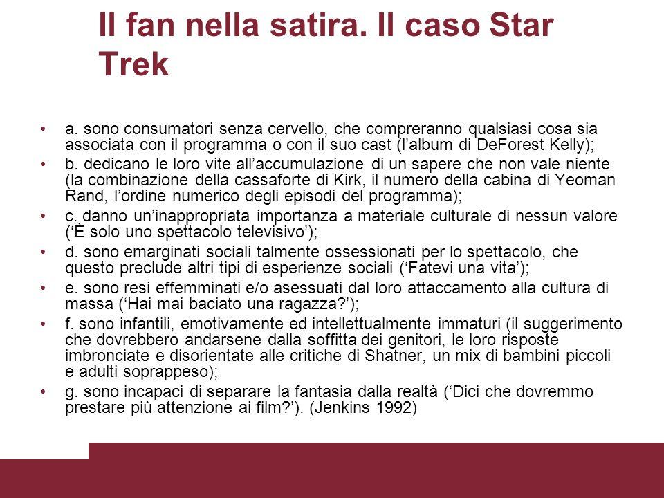 Il fan nella satira. Il caso Star Trek