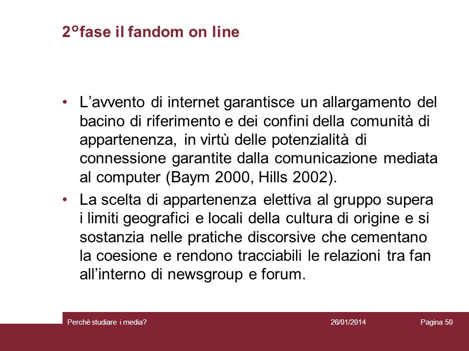 2°fase il fandom on line