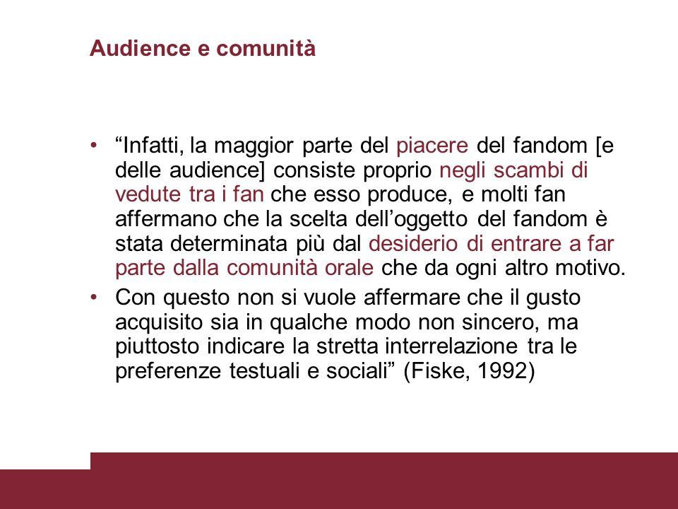 Audience e comunità