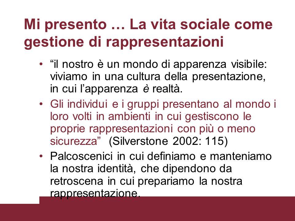 Mi presento … La vita sociale come gestione di rappresentazioni