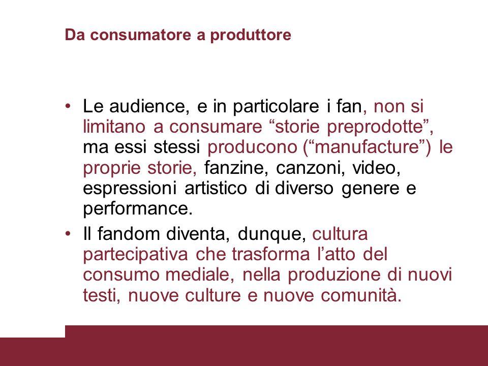 Da consumatore a produttore
