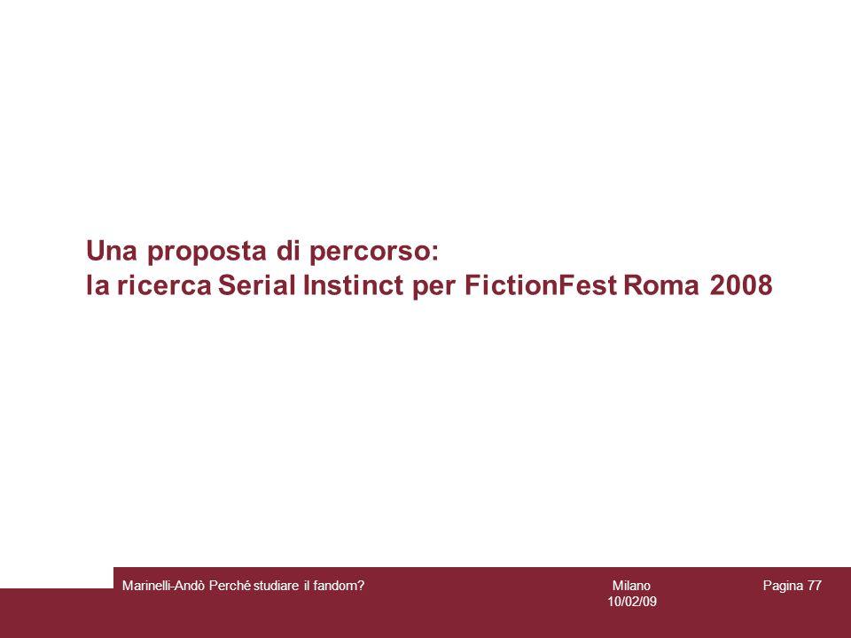 Una proposta di percorso: la ricerca Serial Instinct per FictionFest Roma 2008