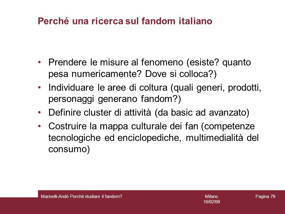 Perché una ricerca sul fandom italiano