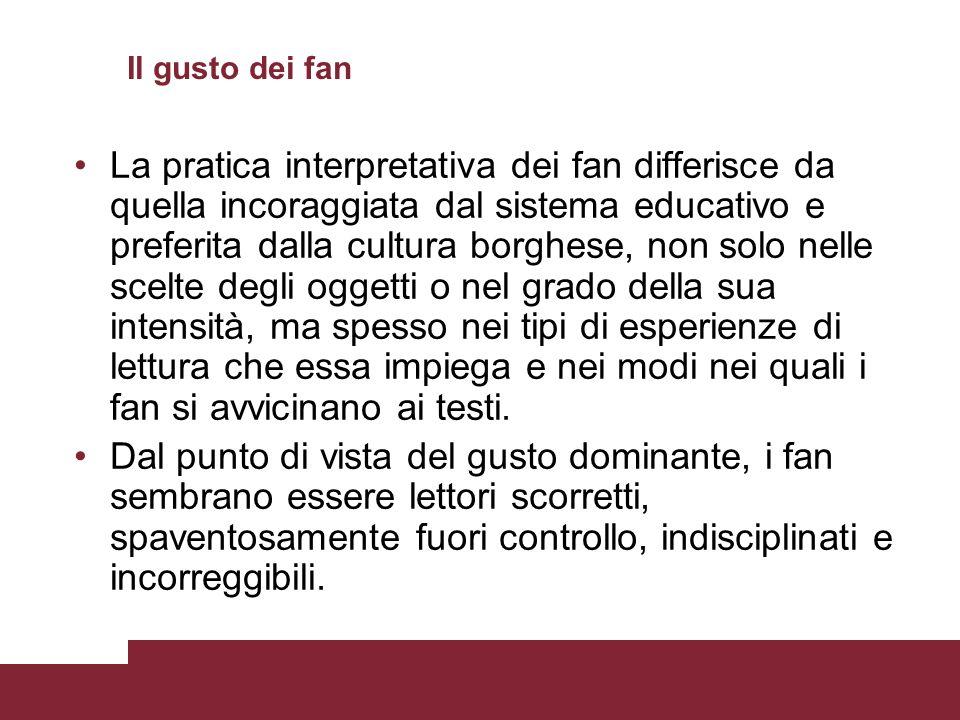 Il gusto dei fan