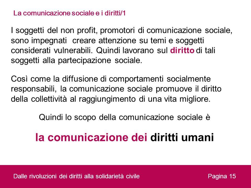La comunicazione sociale e i diritti/1