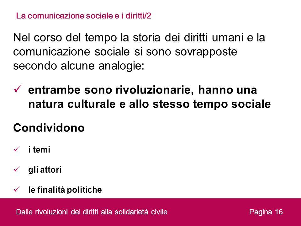 La comunicazione sociale e i diritti/2