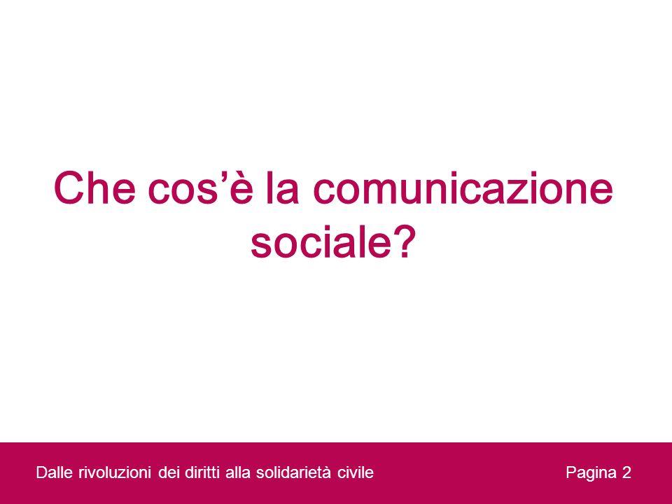 Che cos'è la comunicazione sociale