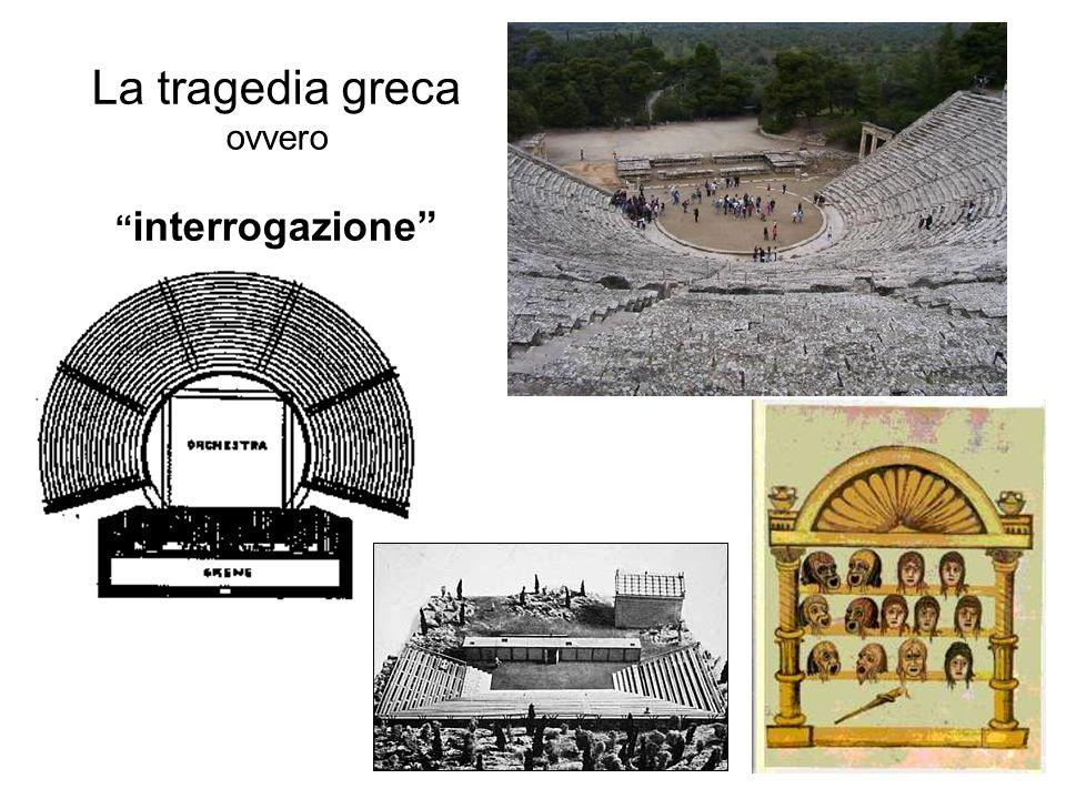 La tragedia greca ovvero interrogazione