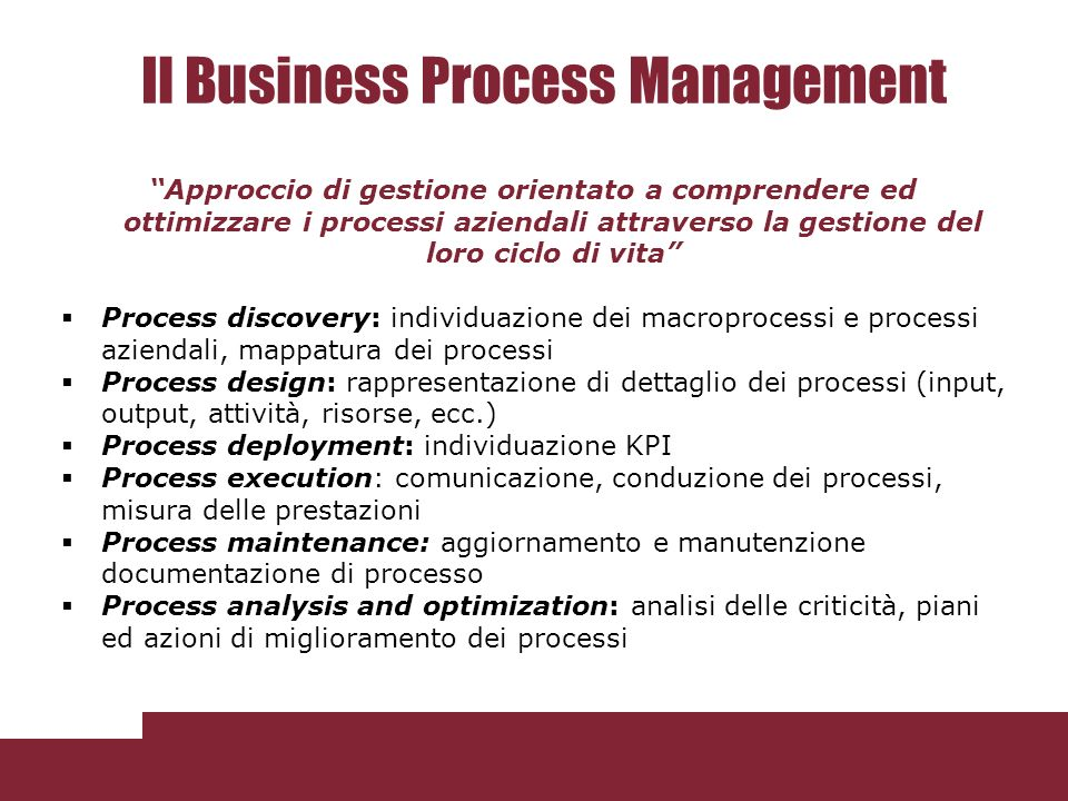 Il Business Process Management