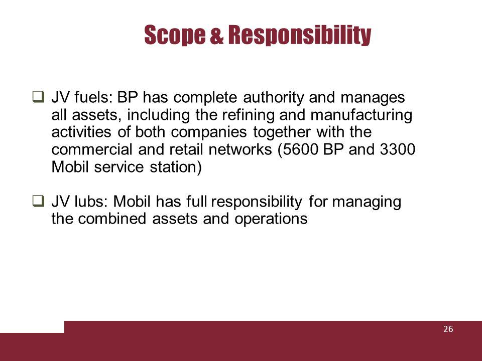 Scope & Responsibility