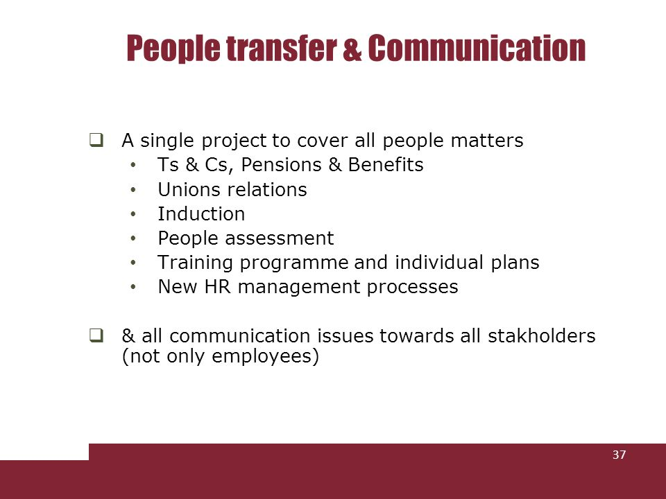 People transfer & Communication