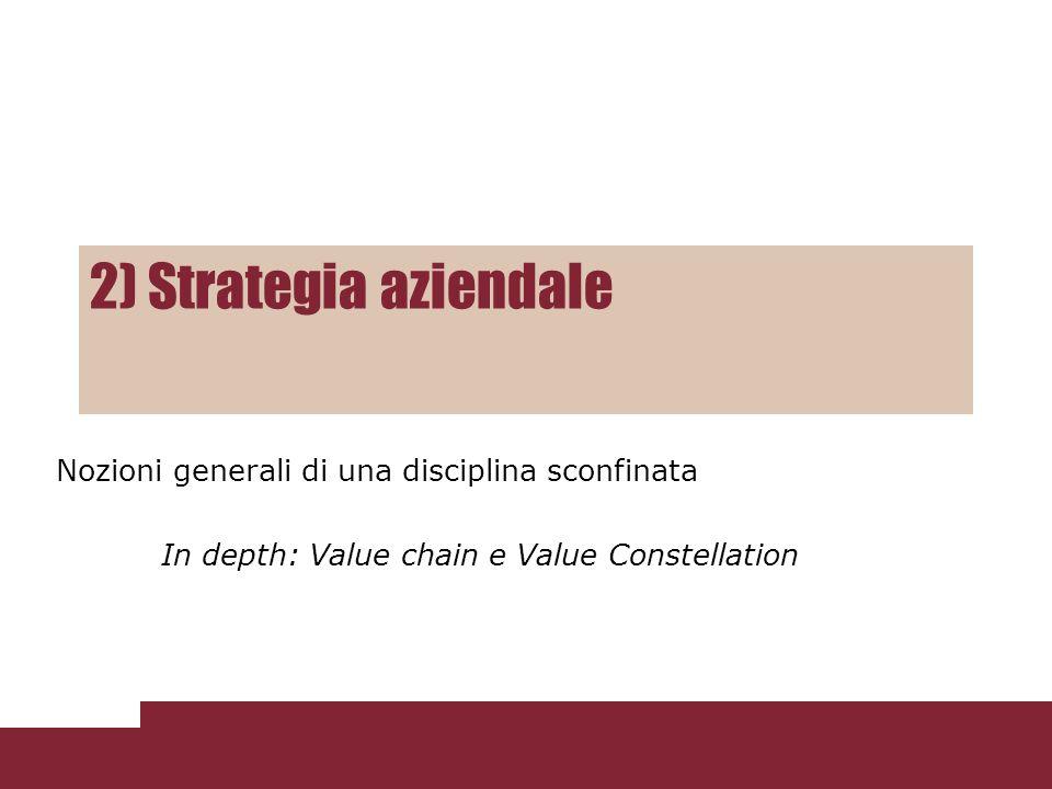 2) Strategia aziendale Nozioni generali di una disciplina sconfinata