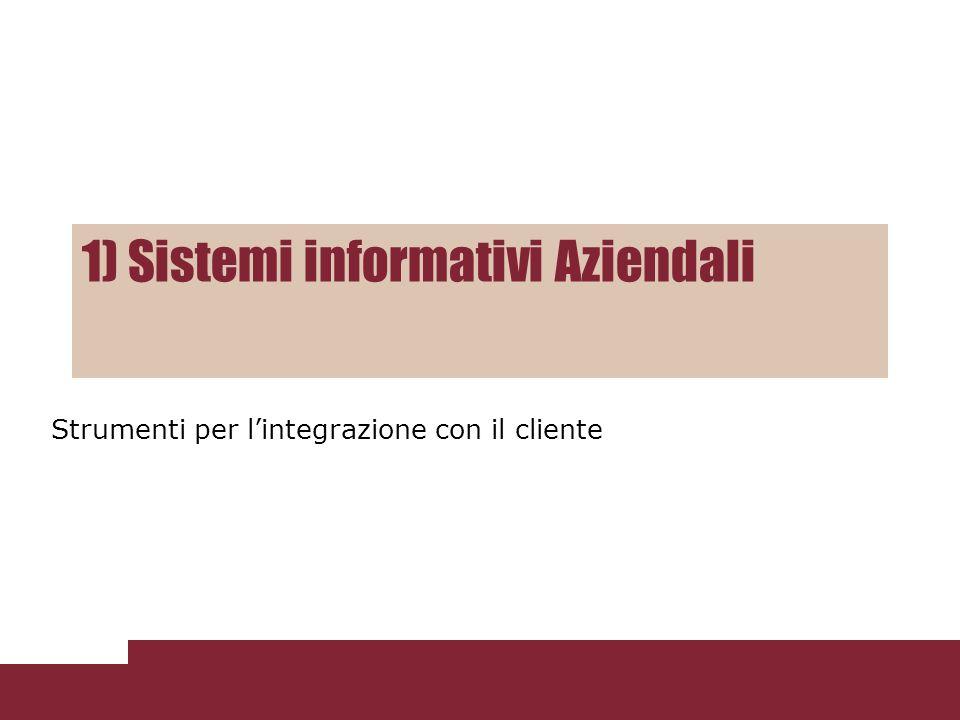 1) Sistemi informativi Aziendali