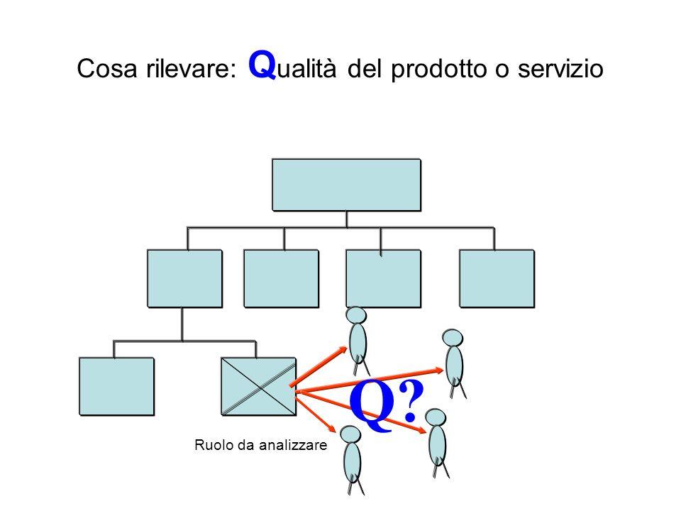Cosa rilevare: Qualità del prodotto o servizio