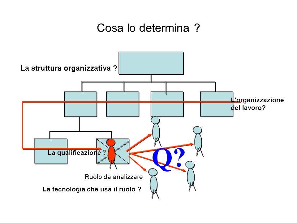 Q Cosa lo determina La struttura organizzativa