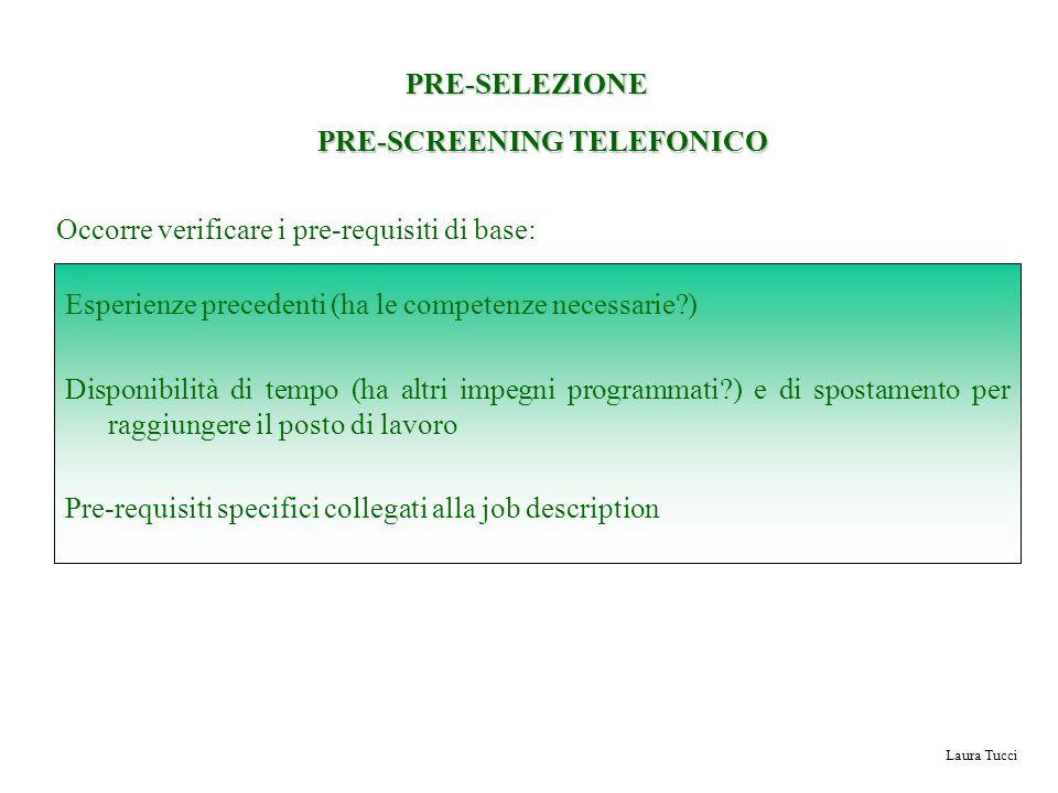 PRE-SCREENING TELEFONICO