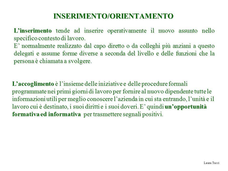 INSERIMENTO/ORIENTAMENTO