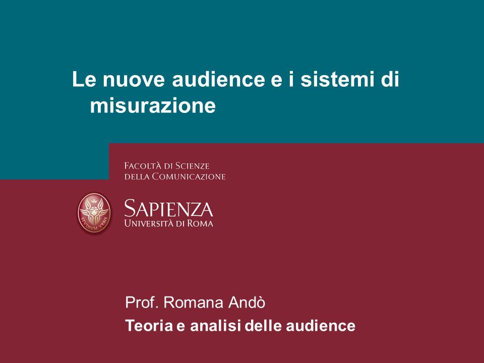 Le nuove audience e i sistemi di misurazione
