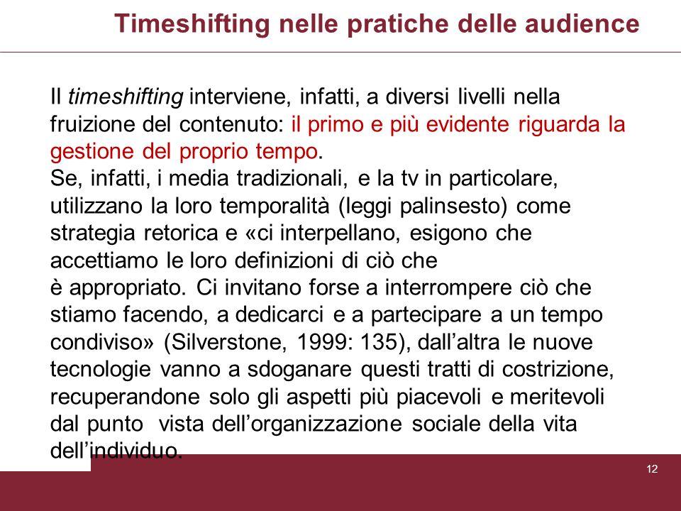 Timeshifting nelle pratiche delle audience