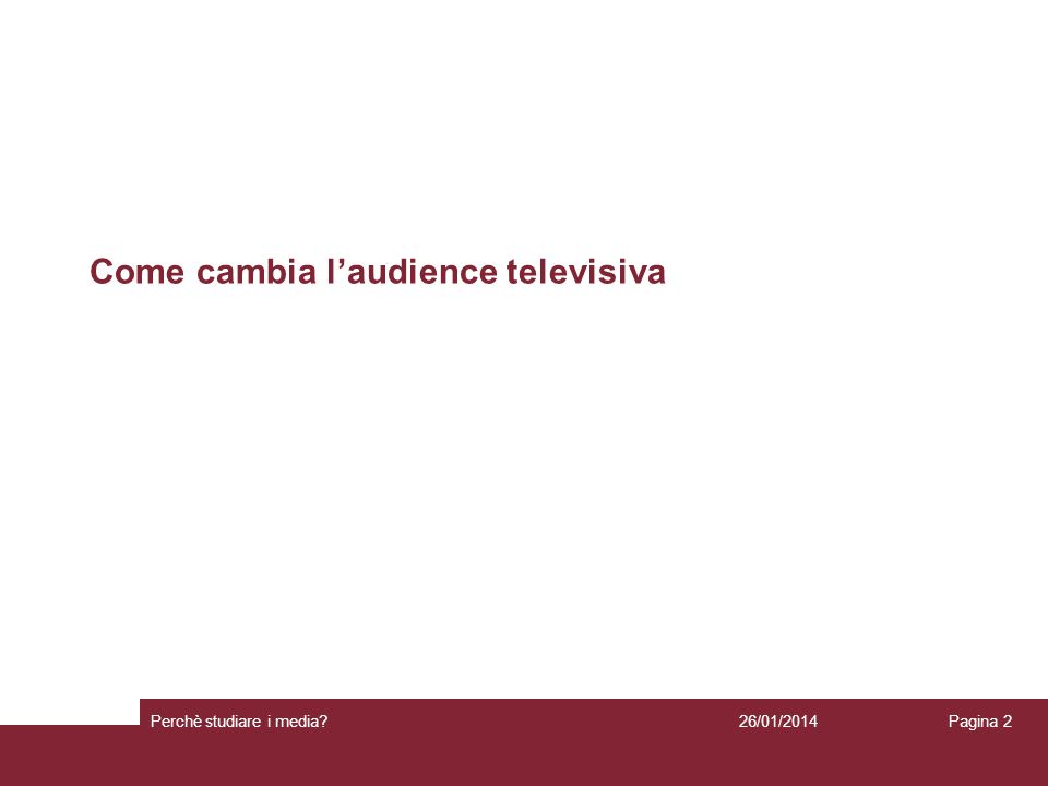 Come cambia l'audience televisiva