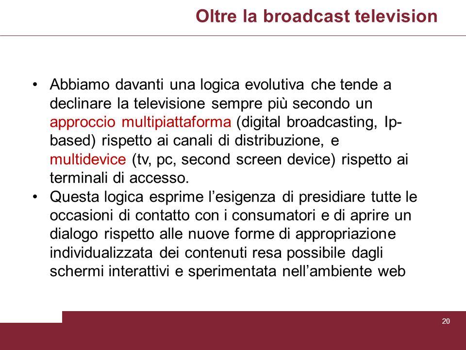 Oltre la broadcast television