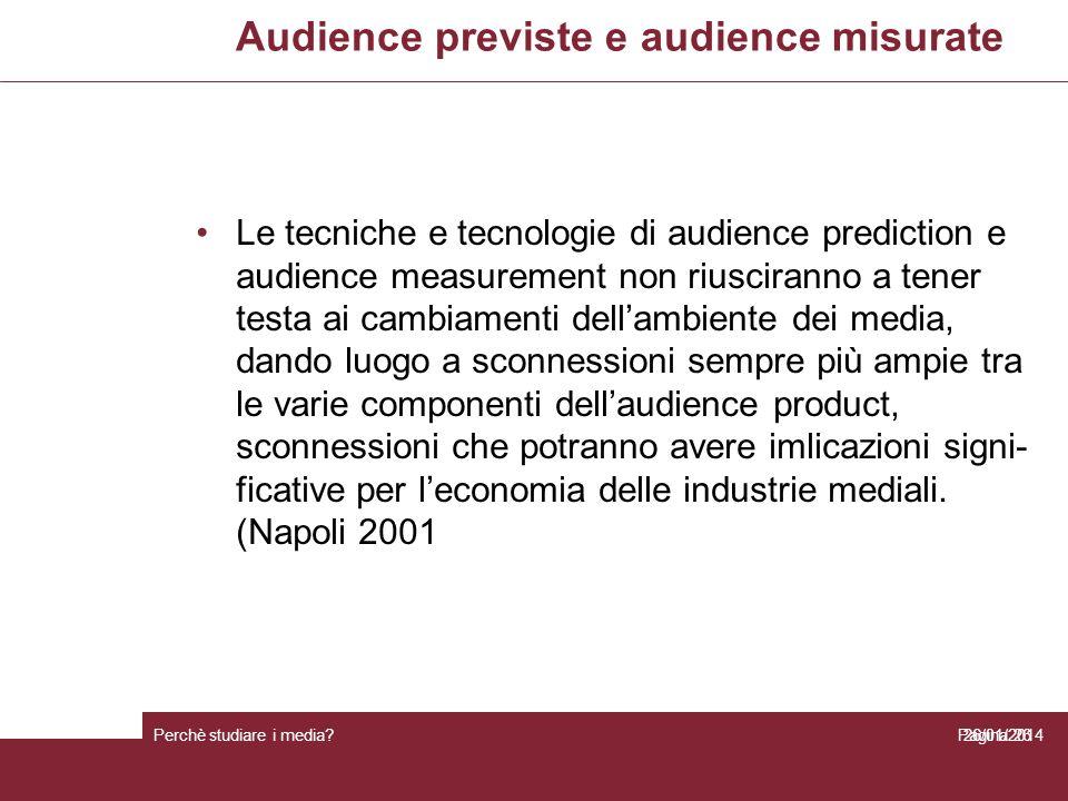 Audience previste e audience misurate