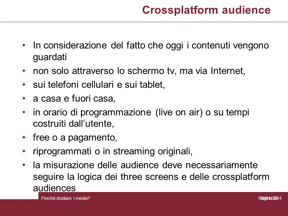 Crossplatform audience