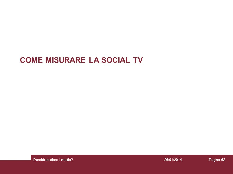 COME MISURARE LA SOCIAL TV