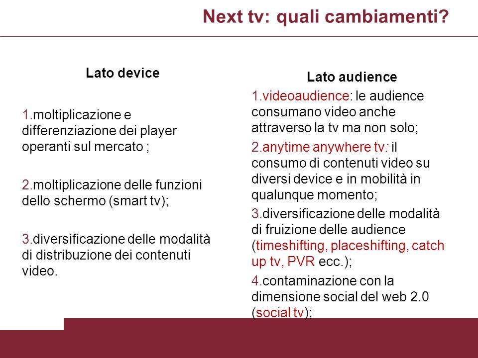 Next tv: quali cambiamenti