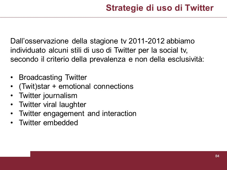Strategie di uso di Twitter