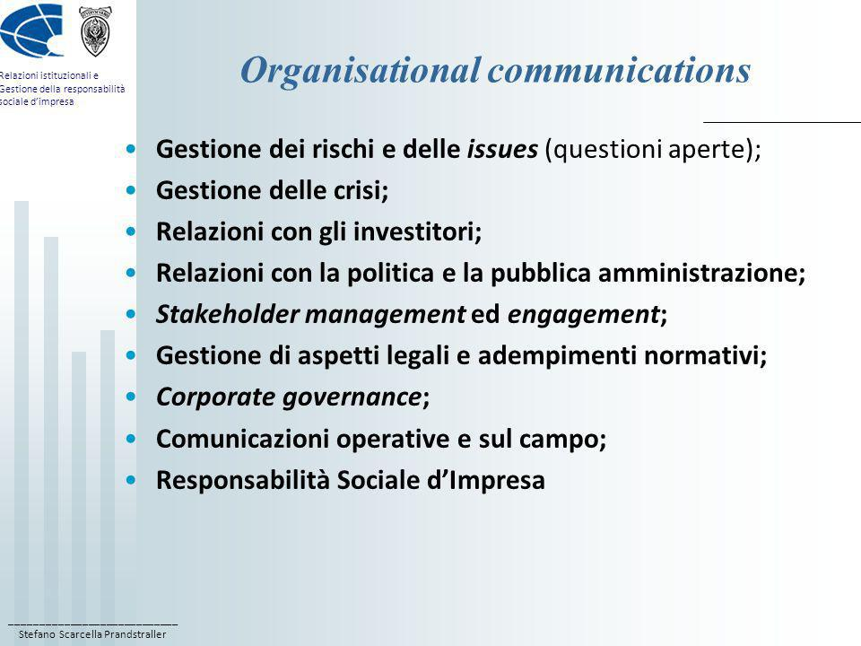 Organisational communications