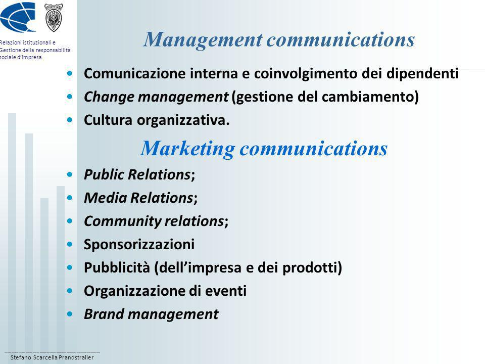 Management communications