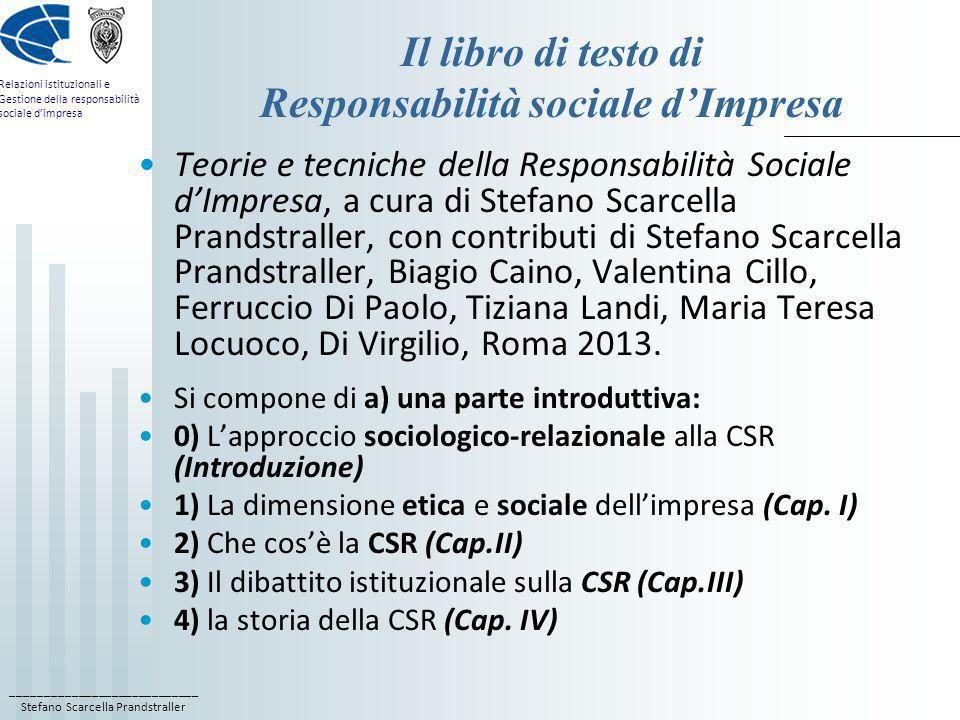 Il libro di testo di Responsabilità sociale d'Impresa