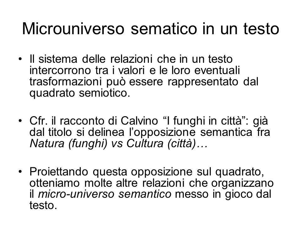 Microuniverso sematico in un testo