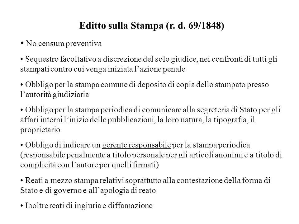 Editto sulla Stampa (r. d. 69/1848)