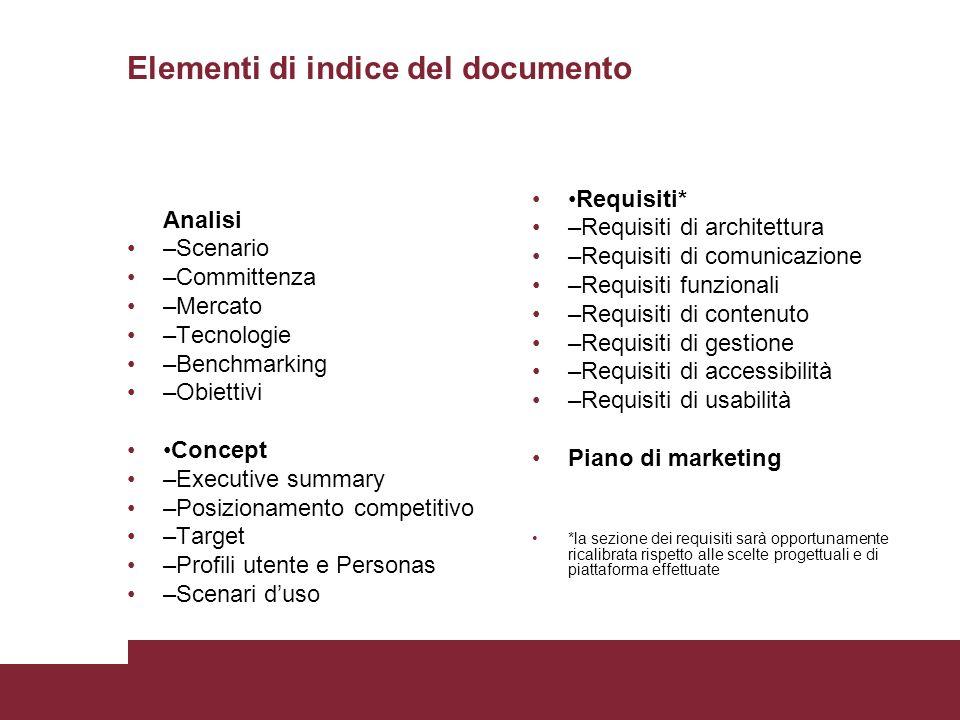 Elementi di indice del documento