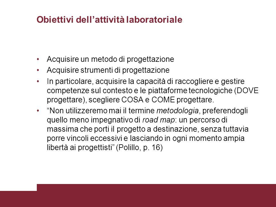 Obiettivi dell'attività laboratoriale