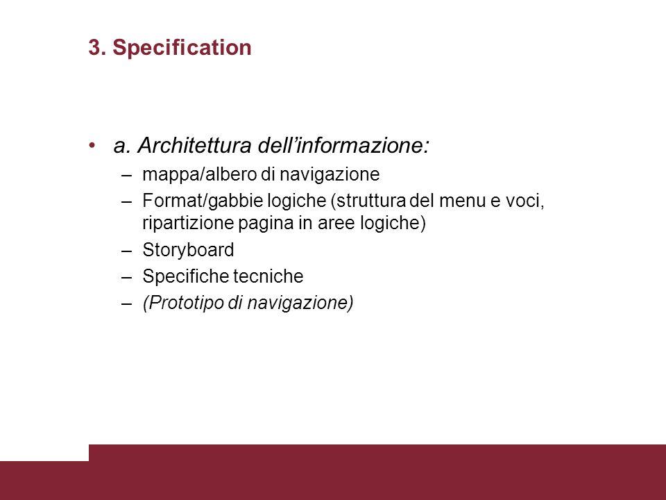 a. Architettura dell'informazione: