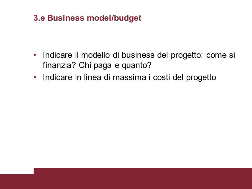 3.e Business model/budget