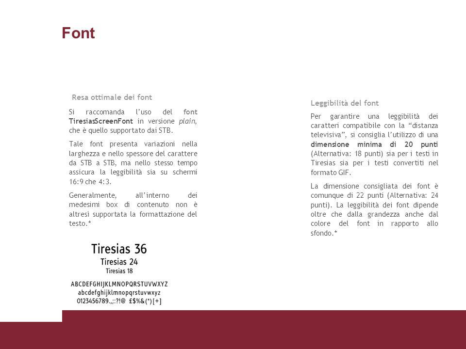 Font Resa ottimale dei font Leggibilità del font