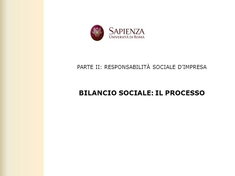 BILANCIO SOCIALE: IL PROCESSO