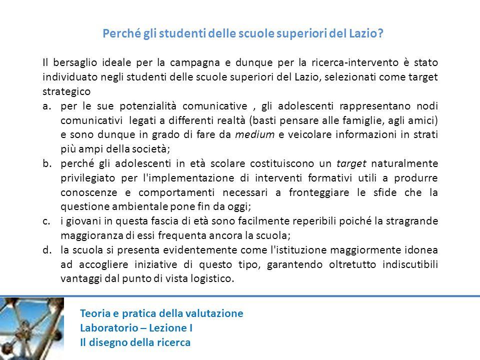 Perché gli studenti delle scuole superiori del Lazio