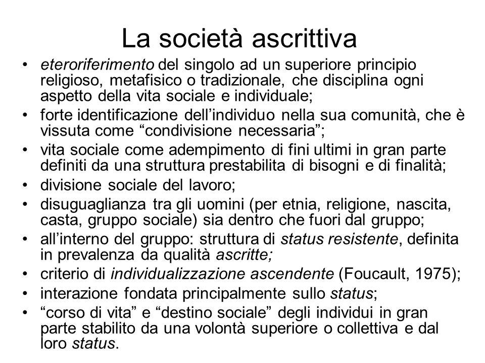La società ascrittiva