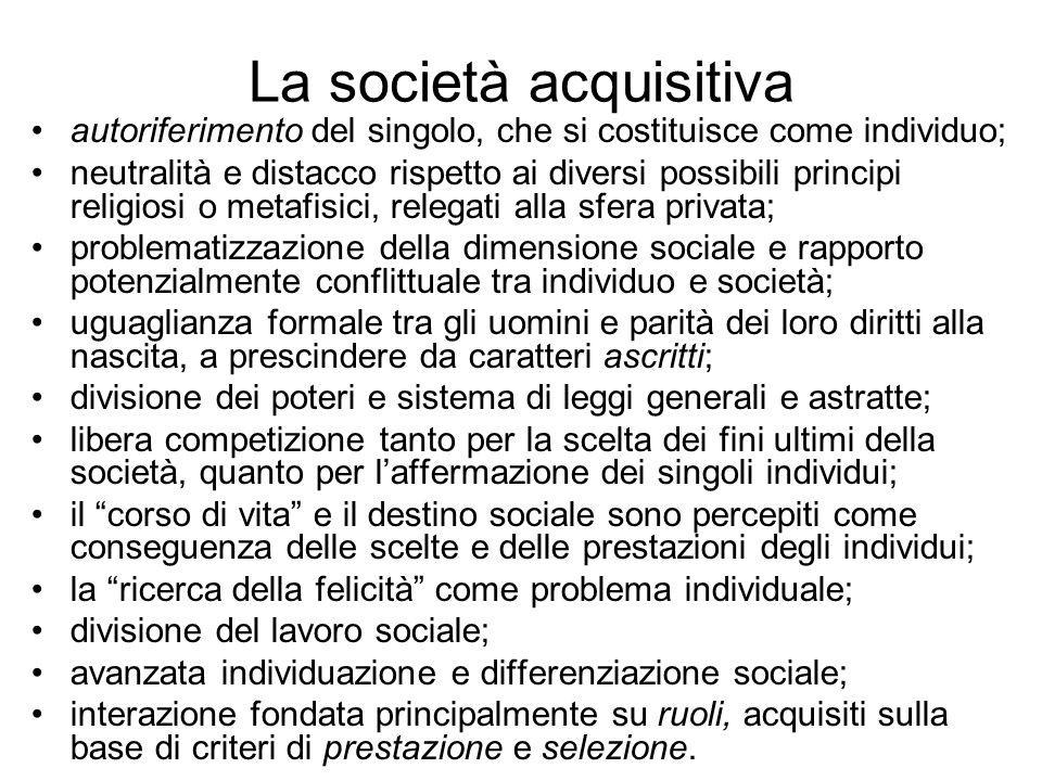 La società acquisitiva