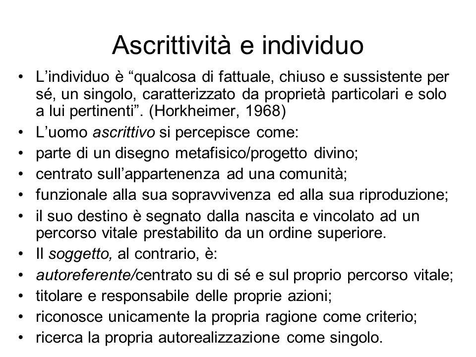 Ascrittività e individuo